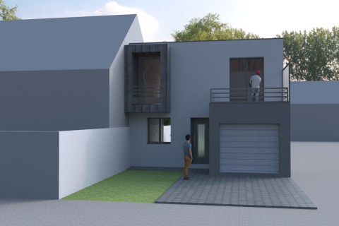 Construction maison contemporaine 93 77